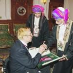 Il Sultano Qaboos Bin Said con il maestro Franco Zeffirelli